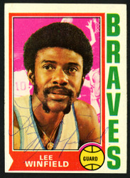 Lee Winfield Autographed 1974-75 Topps Card #157 Buffalo Braves SKU #150043