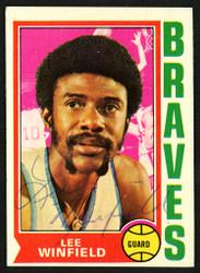 Lee Winfield Autographed 1974-75 Topps Card #157 Buffalo Braves SKU #150044