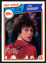 Ron Duguay Autographed 1983-84 O-Pee-Chee Card #121 Detroit Red Wings SKU #150225