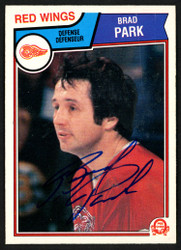 Brad Park Autographed 1983-84 O-Pee-Chee Card #129 Detroit Red Wings SKU #150226