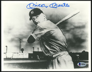 Mickey Mantle Autographed 8x10 Photo New York Yankees 1951 Rookie Year Jersey #6 Beckett BAS #A60458