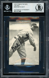 Waite Hoyt Autographed 1972 TCMA Card #320 New York Yankees Beckett BAS #11317448