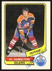 Al Hamilton Autographed 1976-77 WHA O-Pee-Chee Card #97 Edmonton Oilers SKU #151319
