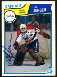 Al Jensen Autographed 1983-84 O-Pee-Chee Rookie Card #373 Washington Capitals SKU #151382