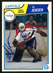 Al Jensen Autographed 1983-84 O-Pee-Chee Rookie Card #373 Washington Capitals SKU #151384