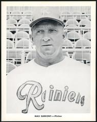 Max Surkont 1956-59 Seattle Rainiers Popcorn 8x10 Premium Card SKU #151543