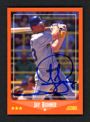 Jay Buhner Autographed 1988 Score Traded Rookie Card #95T Seattle Mariners Stock #151633