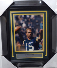 Bart Starr Autographed Framed 8x10 Photo Green Bay Packers Beckett BAS #H10074