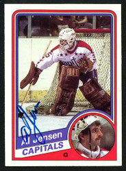 Al Jensen Autographed 1984-85 Topps Card #146 Washington Capitals SKU #151778