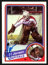 Al Jensen Autographed 1984-85 Topps Card #146 Washington Capitals SKU #151779