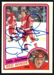 "Ed ""Eddie"" Johnstone Autographed 1984-85 O-Pee-Chee Card #55 Detroit Red Wings SKU #151787"