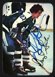 Darryl Sittler Autographed 1976-77 Topps Glossy Card #8 Toronto Maple Leafs SKU #151887