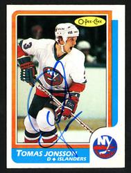 Tomas Jonsson Autographed 1986-87 O-Pee-Chee Card #78 New York Islanders SKU #151941