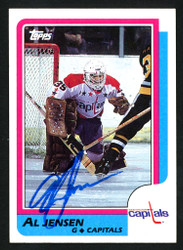 Al Jensen Autographed 1986-87 Topps Card #135 Washington Capitals SKU #152006