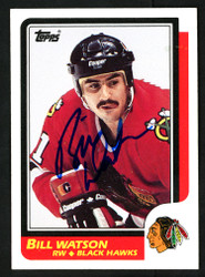 Bill Watson Autographed 1986-87 Topps Rookie Card #151 Chicago Blackhawks SKU #152008