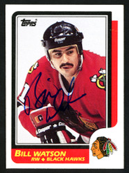 Bill Watson Autographed 1986-87 Topps Rookie Card #151 Chicago Blackhawks SKU #152009
