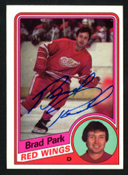 Brad Park Autographed 1984-85 Topps Card #47 Detroit Red Wings SKU #152060
