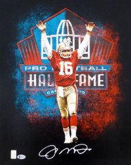 Joe Montana Autographed 16x20 Photo San Francisco 49ers In White Beckett BAS Stock #152357