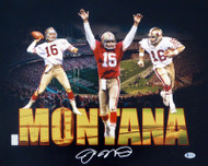 Joe Montana Autographed 16x20 Photo San Francisco 49ers Beckett BAS Stock #152358
