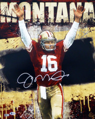 Joe Montana Autographed 16x20 Photo San Francisco 49ers Beckett BAS Stock #152368