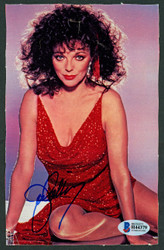 Joan Collins Autographed 5x7.5 Magazine Page Photo Actress Beckett BAS #H44379