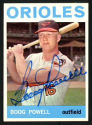 Boog Powell Autographed 1964 Topps Card #89 Baltimore Orioles SKU #153447