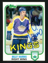 Billy Harris Autographed 1981-82 Topps Card #96 Los Angeles Kings SKU #153589