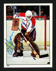 Al Jensen Autographed 1983-84 O-Pee-Chee Sticker Card #202 Washington Capitals SKU #153601