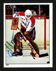 Al Jensen Autographed 1983-84 O-Pee-Chee Sticker Card #202 Washington Capitals SKU #153602