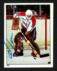 Al Jensen Autographed 1983-84 O-Pee-Chee Sticker Card #202 Washington Capitals SKU #153603