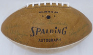 1966-67 Green Bay Packers Super Bowl I Championship Team Autographed Football With 21 Signatures Including Vince Lombardi & Bart Starr Beckett BAS #A52081