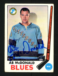 A.B. AB McDonald Autographed 1969-70 Topps Card #18 St. Louis Blues SKU #154244
