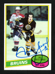 Al Secord Autographed 1980-81 Topps Rookie Card #129 Boston Bruins SKU #154265