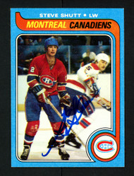 Steve Shutt Autographed 1979-80 Topps Card #90 Montreal Canadiens SKU #154310