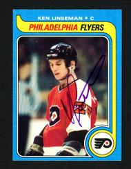 Ken Linseman Autographed 1979-80 Topps Rookie Card #241 Philadelphia Flyers SKU #154357