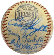 1950 St. Louis Cardinals Autographed Official League Baseball With 15 Total Signatures Including Enos Slaughter & Del Rice Beckett BAS #A52091