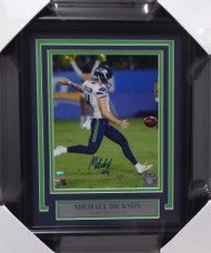 Michael Dickson Autographed Framed 8x10 Photo Seattle Seahawks MCS Holo Stock #154886
