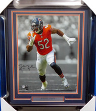 Khalil Mack Autographed Framed 16x20 Photo Chicago Bears Beckett BAS Stock #155001