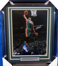 Giannis Antetokounmpo Autographed Framed 16x20 Photo Milwaukee Bucks Beckett BAS Stock #155003