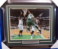 Giannis Antetokounmpo Autographed Framed 16x20 Photo Milwaukee Bucks Beckett BAS Stock #155006