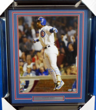 Sammy Sosa Autographed Framed 16x20 Photo Chicago Cubs Beckett BAS Stock #155014