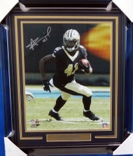 Alvin Kamara Autographed Framed 16x20 Photo New Orleans Saints Beckett BAS Stock #155017
