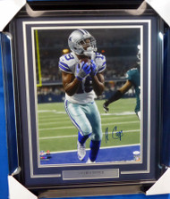 Amari Cooper Autographed Framed 16x20 Photo Dallas Cowboys JSA Stock #155020