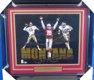 Joe Montana Autographed Framed 16x20 Photo San Francisco 49ers Beckett BAS Stock #155030
