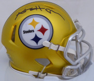 Antonio Brown Autographed Pittsburgh Steelers Blaze Mini Helmet JSA #WP678460