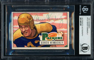 Abner Wimberly Autographed 1951 Bowman Rookie Card #125 Green Bay Packers Died 1976 Beckett BAS #11481291