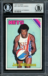 """Super John"" Williamson Autographed 1975-76 Topps Card #251 New Jersey Nets Beckett BAS #11482148"