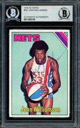 """Super John"" Williamson Autographed 1975-76 Topps Card #251 New Jersey Nets Beckett BAS #11482150"