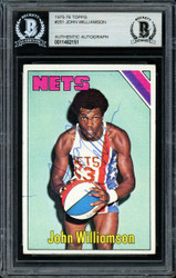 """Super John"" Williamson Autographed 1975-76 Topps Card #251 New Jersey Nets Beckett BAS #11482151"