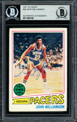 """Super John"" Williamson Autographed 1977-78 Topps Card #44 New Jersey Nets Beckett BAS #11482193"